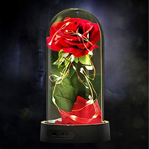(60% OFF Coupon) Beauty and The Beast Silk Rose Lamp $10.40