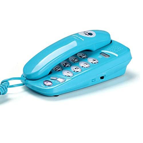 YUTRD Teléfono Botón Grande Hotel Hotel Hogar Colgante De Pared Tono De Llamada Ajustable Teléfono Fijo (Color : A)
