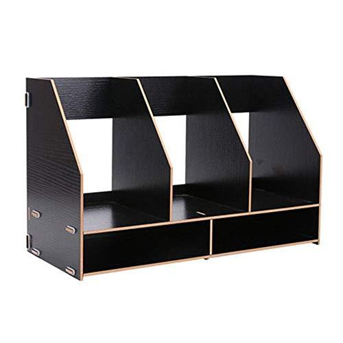 Nfudishpu Aktenschrank Aktenhalter Kreativer Ordner Aufbewahrungsbox Datenrahmen Bücherständer Büroregal Mehrschichtige Dicke Platte Große Geschenkaufbewahrungsbox (Farbe: B)