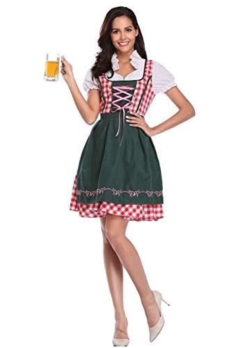 FairOnly Oktoberfest - Vestido de Fiesta para Mujer, diseño de Cuadros