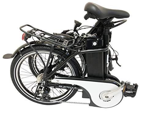 419ZhZtOKXL - GermanXia E-Bike Faltrad Mobilemaster E-Klapprad Touring CH-15,6 7G Shimano 20 Zoll mit/ohne Gasdrehgriff, eTurbo 250 Watt HR-Antrieb, bis zu 140 km Reichweite nach StVZO