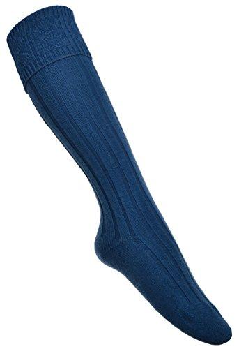 Lovat Blau KILT Socke- Vielzahl an Größen erhältlich