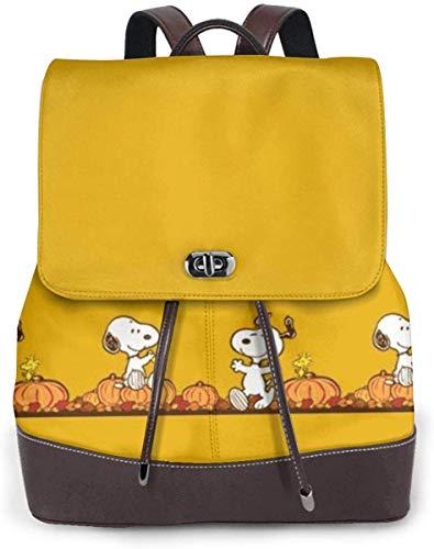 Snoopy スヌーピー 26 リュックサック レディース 高級本革 レザー バック 女子 人気 通学 OL 通勤 旅行 防撥水 軽量 手提げバッグ,ブラック,One Size