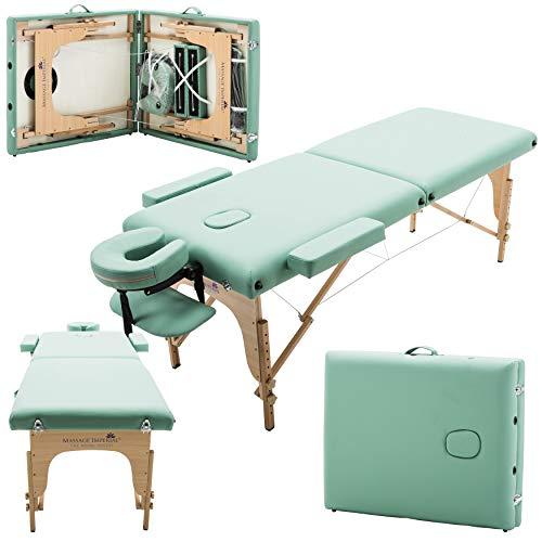 Massage Imperial® Charbury - Table de massage Portable pro luxe - 2 Zones - Panneaux Reiki -...