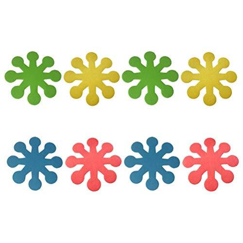 ABOOFAN 8st åtta kronblad kruka matta påskbord placemats festunderlägg kreativ placemat
