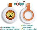 nomo MOSQUITO gegen Mücken – Mückenschutz Clip für Baby und Kinder 100% pflanzlich – 1 Anti Mücken Clip hält 30 Tage