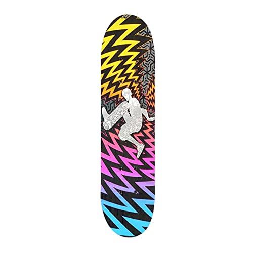 ZHINWEN Monopatín de Longboard, Doble Patada Deck Concave Skateboards Longboard Skate Tableros para jóvenes Principiantes Skateboard Cuatro Ruedas Doble Snubby Skate (Color : Multicolore)