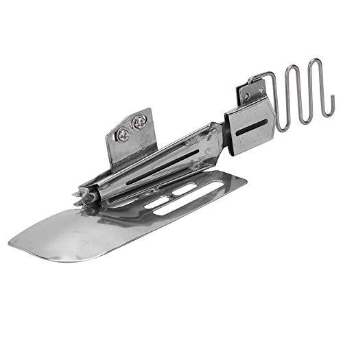 Cilindro elástico de doble carpeta Carpeta selladora plana ajustable Accesorio de encuadernación Carpeta de cinta para máquina de coser industrial Wilcox Gibbs Elna(Inlet 1-1/2in Outlet 7/16in)