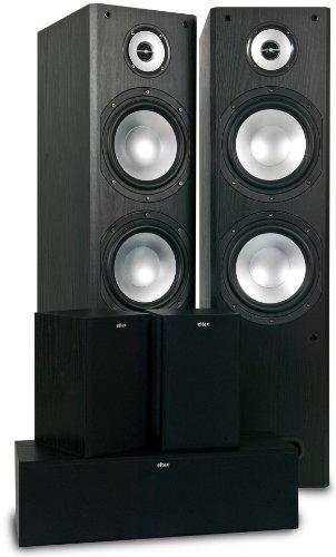 Eltax Idaho 5-Pack 5.0channels 110W Negro Conjunto de Altavoces - Set de Altavoces (5.0 Canales, 110 W, Cine en casa, Negro, De 2 vías, 75-20000 Hz)