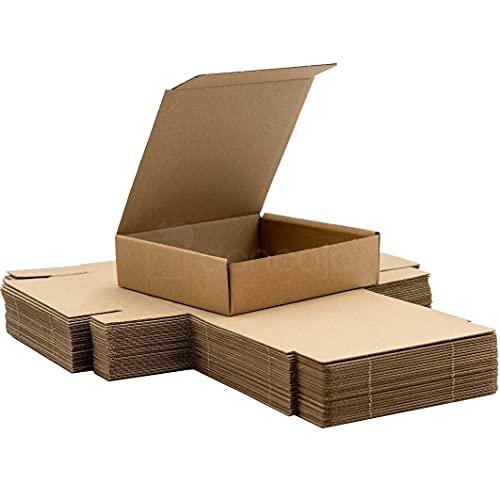 Pack 25 cajas | cartón pequeñas, para envíos ecommerce automontables kraft,...