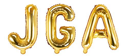 DaLoKu JGA 35cm Folienballon Luftballon Hochzeit Junggesellenabschied, Farbe: Gold