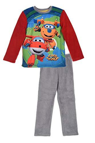 Super-Wings Schlafanzug Langarm Pyjama-Set Kinder Jungen Rot, Größe:98 (3 A)