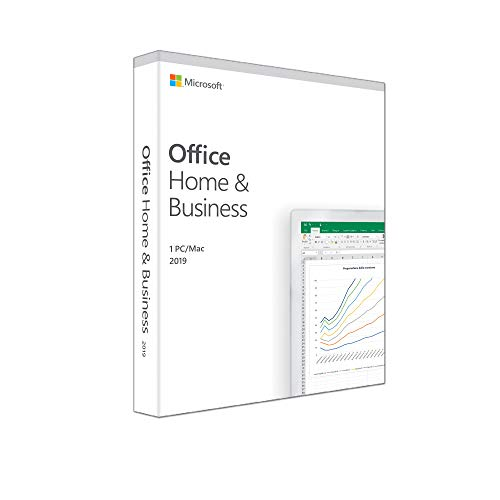 Microsoft Office Home & Business 2019 | il pagamento avviene una sola volta | si installa su 1 PC (Windows 10) o Mac |1 licenza commerciale | scatola