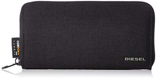 (ディーゼル) DIESEL メンズ カモフラ柄 ジップ付き 長財布 X06128P2292 UNI ブラック×アイボリー H6103