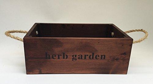 Nutley's Grande boîte en chêne fabriquée à la Main Bushel Herbes aromatiques