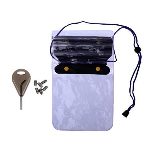 Equipo de navegación Tornillos de Deporte 2pcs tabla de surf Surf Wakeboard Surf Fin clave de cremallera bolsillo impermeable almacenamiento sostenedor del bolso seco de la bolsa Para remo, control de