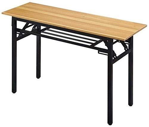 Mesa plegable pequeña rectangular cuadrada simple para entrenamiento al aire libre, mesa de picnic simple y estrecha (color de una sola capa: 80 x 60 cm) - 120 x 50 cm _doble capa