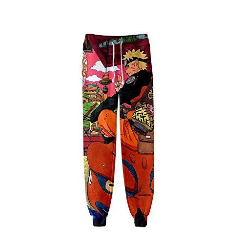 CRBTA Sweatpants Naruto 3D Unisex Anime Sweatpants Joggers Pantalones de Cintura elástica Cosplay Pantalones Deportivos-S