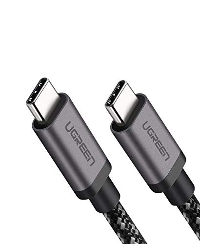 UGREEN Type C ケーブル USB 3.1 Gen1 PD対応 最大60W/3A 急速充電 4K 60HZビデオ伝送 高耐久ナイロン編み 5Gbps Macbook Pro、Galaxy S9 S9 Plus、Huawei P20 P20 Pro、Xperia XZ、 等対応 1M