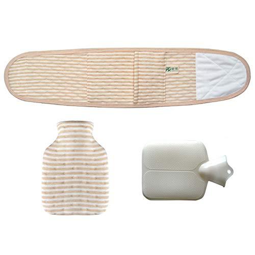 Topwon Baby Belly Band con botella de agua caliente y funda de algodón para bebé Umbilical Cord Belt Baby Belly Binder Warm Essential (marrón, 60.8 cm x 5.5 pulgadas)