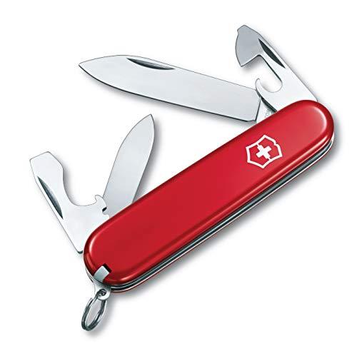 Victorinox Taschenmesser Recruit (10 Funktionen, Kleine Klinge, Dosenöffner, Zahnstocher) rot