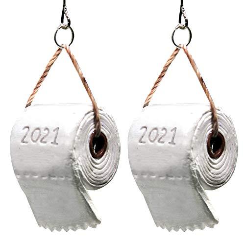 Huhu833 Weihnachtsschmuck 2020 Klopapier üBerlebende Familie,Weihnachten Dekorationen AnhäNger,HäNgende Ornamente,Baumschmuck Weihnachtsbaum HäNgen Ornament (2PC / 2021)