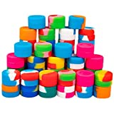100pcs Non-Stick Food Grade Silicone Wax Containers 3ml...