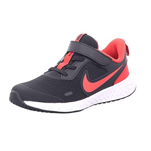 Nike Revolution 5 (PSV), Scarpe da Corsa Unisex-Bambini, Black/Univ Red-White, 28.5 EU