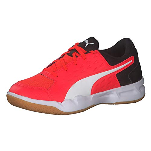 PUMA Auriz XT Jr Unisex Childrens Indoor Shoes Football Shoes Sports Shoes Red Blast Red Size 6 UK