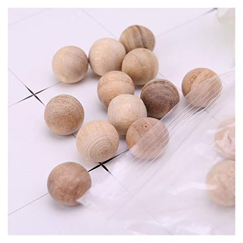 Uso múltiple 100pcs Cedro natural de madera de la polilla de las bolas de la polilla del camphor repelente de vestuario del vestuario del cajón para Armarios y Cajones ( Color : Wood Color )
