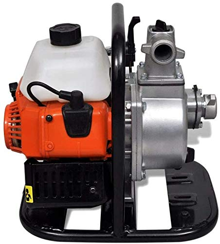 Motobomba de Agua Gasolina 2 Tiempos 0.95L Herramienta Bomba Eléctrica, Motobomba de Agua a Gasolina 1,45 kW a 7000 r/min