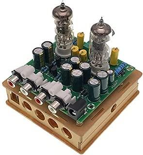 TOOGOO Newest 6J1 Tube preamp Amplifier Board Pre-amp Headphone amp 6J1 Valve preamp Bile Buffer DIY Kits(6J1 Tube preamp Amplifier Board+Transparent Shell Parts)