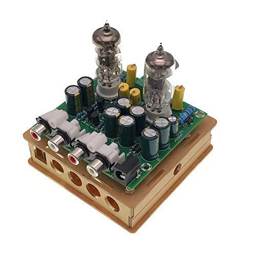 TOOGOO El Más Nuevo Amplificador Preamplificador de Tubo 6J1 Amplificador de Auriculares Preamplificador Kit DIY Búfer Cólera Preamplificador de Válvula 6J1