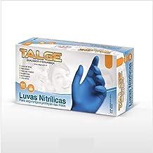 Luva Nitrilica Azul M S/P 100 Un, Talge