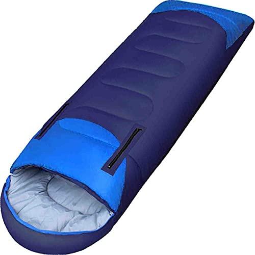 FGDJ Saco de Dormir para Acampar, Puede ser Empalmado Saco de Dormir al Aire Libre Adulto 1350g algodón Hueco Engrosado Envolvente Tipo Calidez Camping Saco de Dormir, Adecuado para Adultos y niños,B