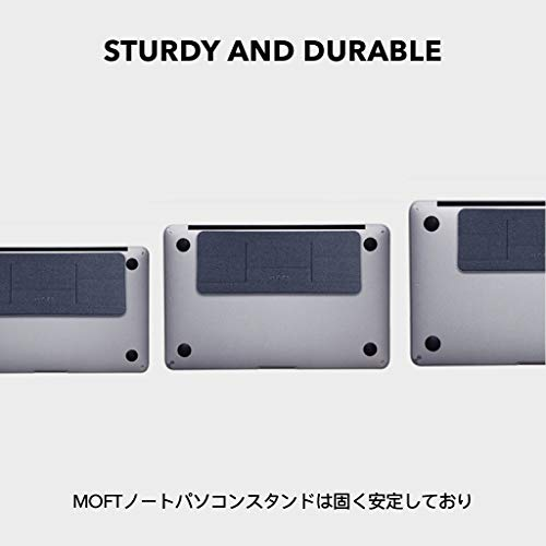 MOFT pcスタンド ノートパソコン スタンド 目立たない コンパクト 粘着タイプ 繰り返し利用可能 ミニ版 10°角度調整可能 極薄 15.6インチのノートパソコンまで対応