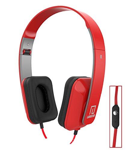 Langston ® CSL Panther Tab 7 Zoll Windows Tablet Rot Deep Bass Faltbare HD Kopfhörer (iM-8) mit Mikrofon und Fernbedienung