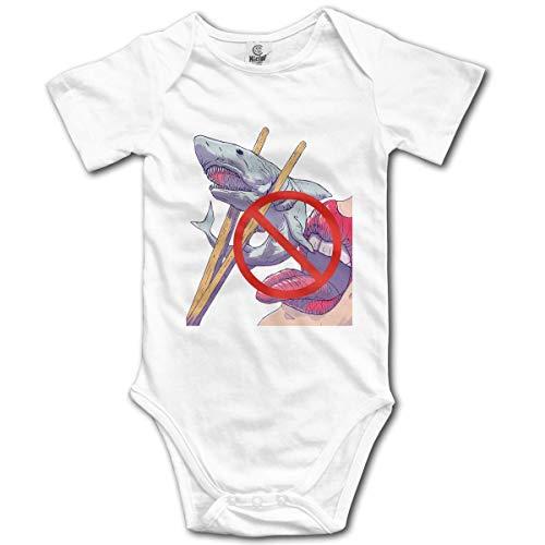 Klotr Unisexe Body Bébé Garçon Fille Prohibited to Eat Newborn Bodysuits Manche Courte Combinaisons et Barboteuses Set