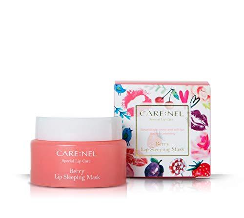 Carenel Berry lip Sleeping Mask 23g–lucidalabbra e idratante a lunga durata Night trattamenti cura delle labbra balsamo per le labbra screpolate Cracked per...
