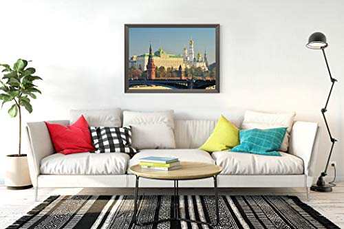 DIY 5D Diamond Painting Kits Moscow Kremlin Real Landscape Scenery Life Fun Colorful Full Drill Embroidery with Diamond for Home Wall Decor Gift 14X20 Inch
