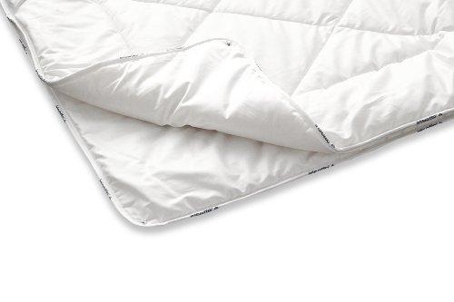 Badenia Bettcomfort Irisette Merino Steppbett, 4-Jahreszeiten Bettdecke aus Schurwolle, 200 x 200 cm, weiß