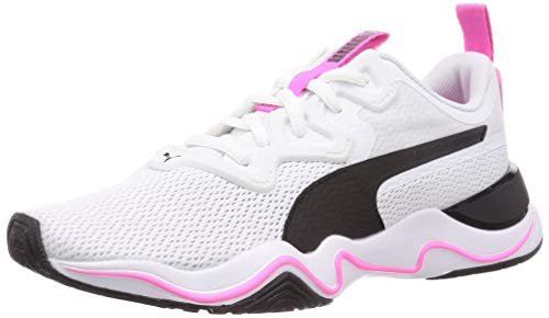 PUMA Zone XT Wns, Zapatillas Deportivas para Interior Mujer, Blanco White Black/Luminous Pink, 42 EU