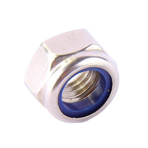 Sechskantmuttern M8 selbstsichernd DIN 985 Edelstahl A2 (10 Stück) - Sicherungsmuttern Stopmuttern Klemmmuttern Muttern V2A