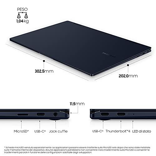 Samsung Galaxy Book Pro 360 Laptop, Intel Core i7 di undicesima generazione, Piattaforma Intel Evo, Display Touchscreen 13,3 Pollici, Windows 11 ready, 16GB RAM, SSD 512GB, Colore Mystic Navy