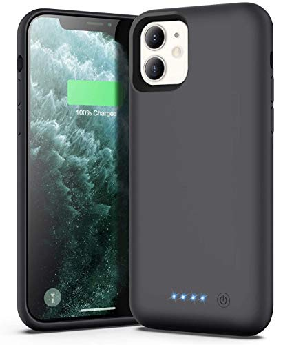 Xooparc Battery case for iPhone 11 [6800mah] Upgraded Charging Case Protective Portable Charger Case Rechargeable Extended Battery Pack for Apple iPhone 11 Charger case (6.1') Backup Power Bank