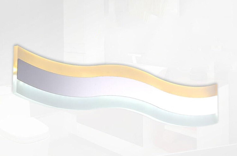 Unbekannt LED-Edelstahl-Spiegel-Licht Minimalistische Badezimmer-Spiegel-Helle Lampe