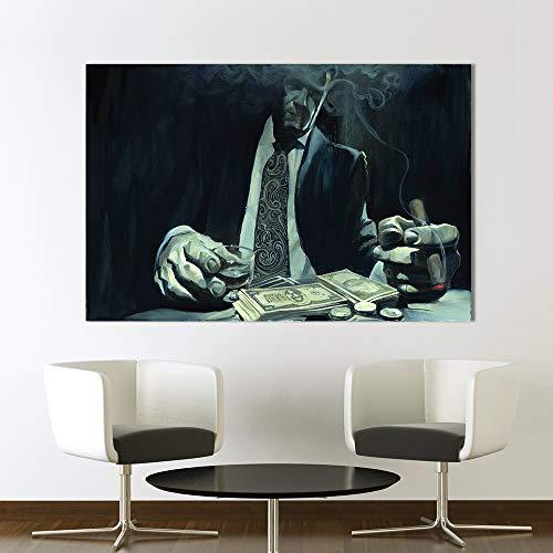 sanzangtang Wandkunst Ölgemälde Plakat Charakter Malerei Spieler abstrakte Dekoration Wohnzimmer rahmenlose 30x45cm