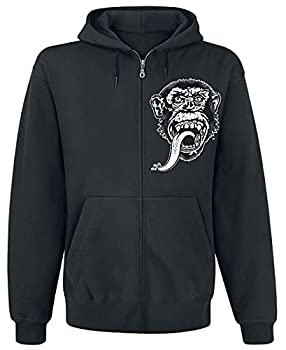 Gas Monkey Garage Officially Licensed Merchandise GMG - Dallas Texas Zipped Hoodie  Black  X-Large