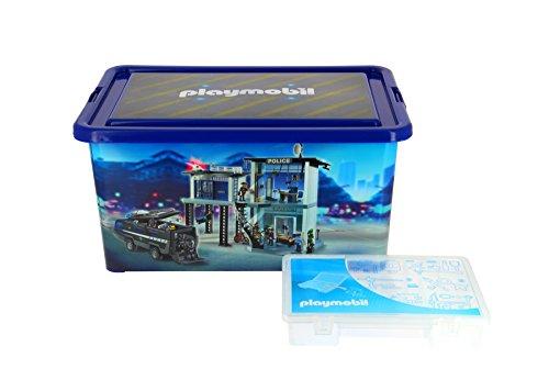 PLAYMOBIL 064671 - Caja Grande de almacenaje (23L), Caja con divisiones