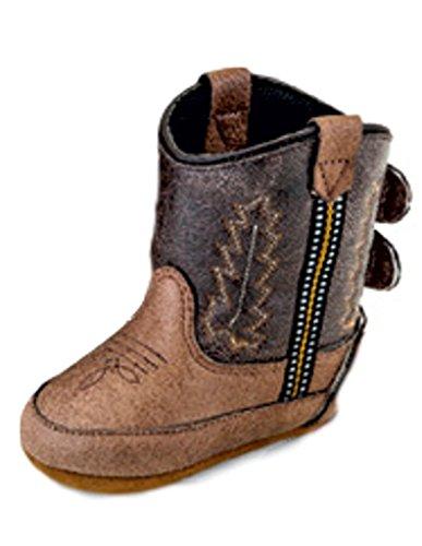 Old West Kids Boots Poppets (Infant/Toddler) Tan Vintage 2 3 Infant M